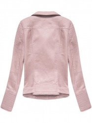Dámska koženková bunda 5377, ružová