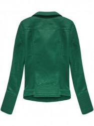 Dámska koženková bunda 5377, zelená