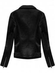 Dámska koženková bunda 5378, čierna