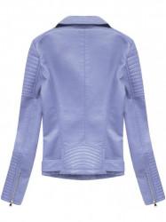 Dámska koženková bunda 5378, fialová