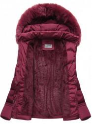 Dámska krátka zimná bunda B3593-30, bordová