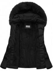 Dámska krátka zimná bunda B3593-30, čierna