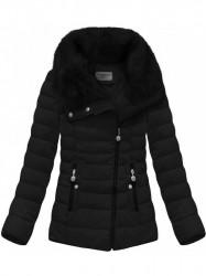 Dámska krátka zimná bunda R1058, čierna