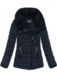 Dámska krátka zimná bunda R1058, modrá