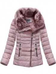 Dámska krátka zimná bunda R1058, ružová