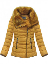 Dámska krátka zimná bunda R1058, žltá