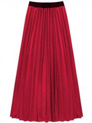 Dámska maxi plisovaná sukňa 211ART, červená