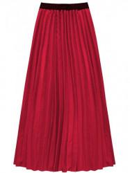 Dámska maxi plisovaná sukňa 211ART, červená #1
