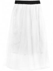 Dámska midi sukňa 96ART, biela
