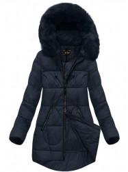 Dámska modrá zimná bunda 7703