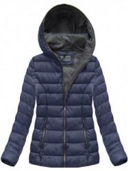 Dámska modrá zimná bunda B3561