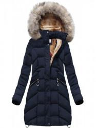 Dámska modrá zimná bunda W737