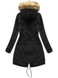 Dámska obojstranná zimná bunda W210, čierna/žltá #1