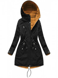 Dámska obojstranná zimná bunda W210, čierna/žltá #3