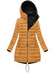 Dámska obojstranná zimná bunda W210, čierna/žltá #4