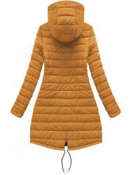 Dámska obojstranná zimná bunda W210, čierna/žltá #6