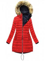 Dámska obojstranná zimná bunda W210, modrá/červená
