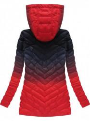 Dámska ombre prechodná bunda W615, granátová/červená