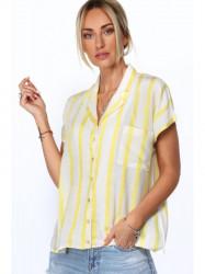Dámska oversized košeľa MP26331, žltá