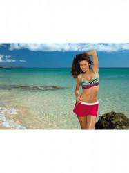 Dámska plážová sukňa Meg M-266 červeno-biela (297)
