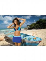 Dámska plážová sukňa Meg M-266 modrá (298)