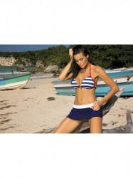 Dámska plážová sukňa Meg M-266 modro-biela (299)