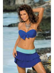 Dámska plážová sukňa Mila M-334 (15) modrá