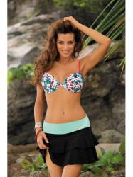 Dámska plážová sukňa Mila M-334 (18) čierna/mätová