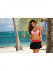 Dámska plážová sukňa Mila M-334 (19) čierna/oranžová