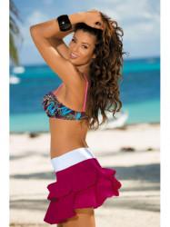 Dámska plážová sukňa Mila M-334 (2) bordová/biela