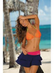 Dámska plážová sukňa Mila M-334 (22) modrá/malinová