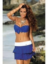 Dámska plážová sukňa Mila M-334 (24) modrá/biela