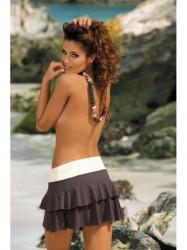 Dámska plážová sukňa Mila M-334 (26) hnedá/biela