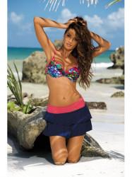 Dámska plážová sukňa Mila M-334 (3) modrá/oranžová