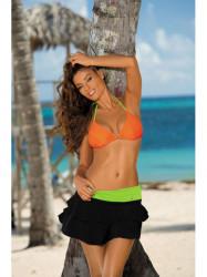 Dámska plážová sukňa Mila M-334 (6) čierna/zelená
