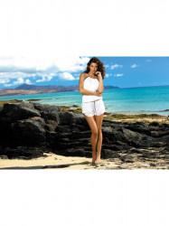 Dámska plážová tunika Leila M-312 biela (293)