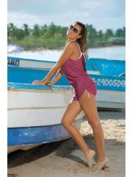 Dámska plážová tunika Leila M-312 ružová (6)