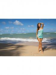 Dámska plážová tunika Mia M-241 mätová (313)