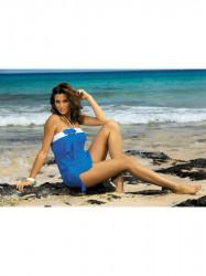Dámska plážová tunika Mia M-241 modrá (311)
