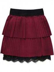 Dámska plisovaná sukňa 18922, bordová
