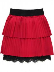 Dámska plisovaná sukňa 18922, červená