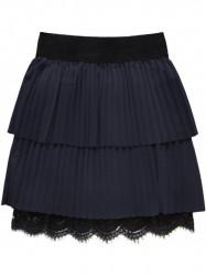 Dámska plisovaná sukňa 18922, tmavo modrá