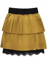 Dámska plisovaná sukňa 18922, žltá