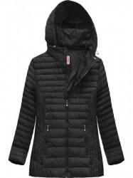 Dámska prešívaná bunda s kapucňou XW262BIGX čierna