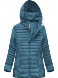 Dámska prešívaná bunda s kapucňou XW262BIGX modrá