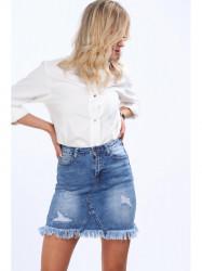 Dámska riflová mini sukňa 1138 #1