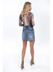 Dámska riflová sukňa 8070 #4