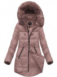 Dámska ružová zimná bunda 7703BIG