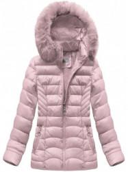 Dámska ružová zimná bunda B1036-30