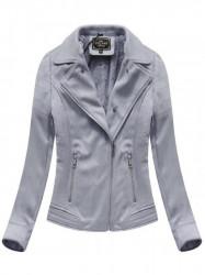 Dámska semišová bunda s kožúškom 6502BIG, fialová #2